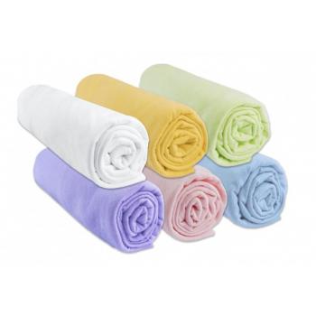 Lot de 6 Draps housse Jersey 100% Coton - 40x80 / 40x90 - Coloris mixte