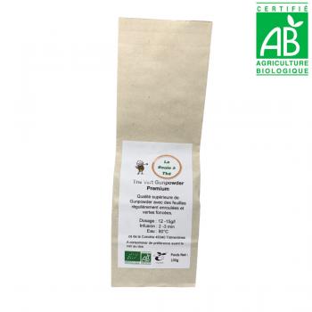 Thé vert nature Chine Gunpowder premium - 100g