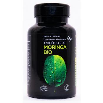 Boîte 120 gélules Moringa BIO certifiée Ecocert  pure et traçable