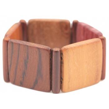 Bracelet en bois précieux Amarante, Palissandre, Mûrier