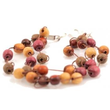 Bracelet en bois précieux Amarante, Palissandre, Mûrier, Acajou
