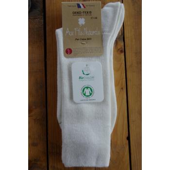 chaussette 100% coton bio écrue