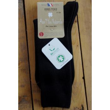 chaussette 100% coton bio noir