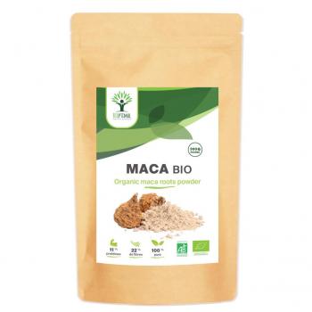 Maca en Poudre Bio - Complément Alimentaire - Superaliment - Energie - Fertilité - Aphrodisiaque - BIOPTIMAL - 300g