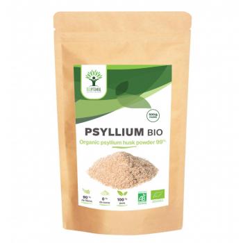 Psyllium Bio - Complément Alimentaire - Psyllium Poudre - Superaliment - Energie - Sport BCAA - BIOPTIMAL - 500g