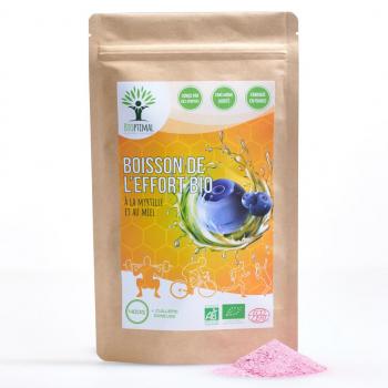 Myrtille - Maltodextrine - Miel - Boisson Isotonique poudre Bio - Sport - BIOPTIMAL - 400 g