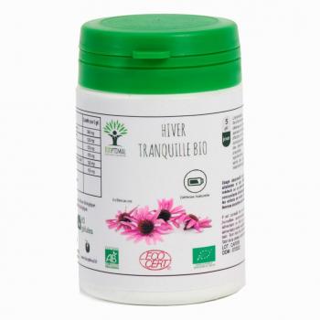 Echinacée - Bioptimal - Eucalyptus - Curcuma Bio - Plantain Bio - Hiver Tranquille Bio - 60 gélules