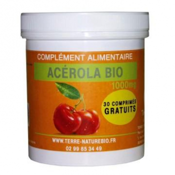 ACEROLA BIO 1000  vitamine C  60 comprimés 2 mois