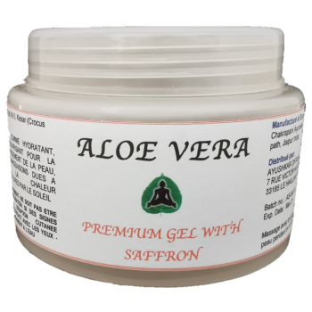 Aloe Vera Premium Gel, fragrance safran, 100% naturel - 100G