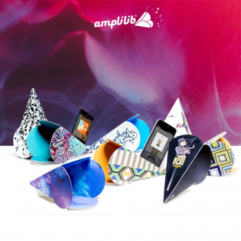 AMPLILIB l'enceinte écologique – Made in France- Pack Collector (8 Amplilib)