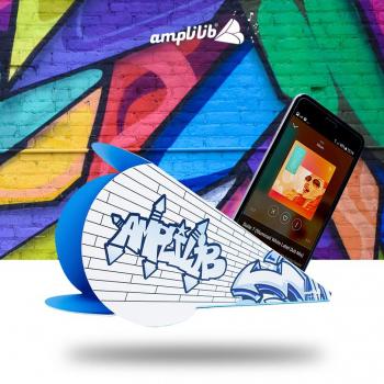 AMPLILIB l'enceinte écologique - Made in France - Modèle Graffiti