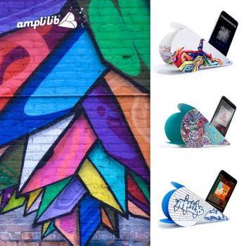 AMPLILIB l'enceinte écologique – Made in France- Pack Street Art (3 Amplilib)