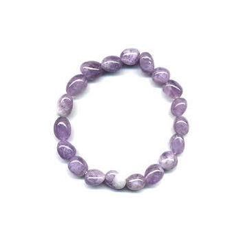 Bracelet améthyste pierres roulées