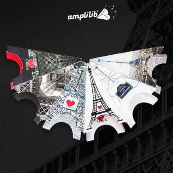 AMPLILIB l'enceinte écologique – Made in France- Pack collecter Tour Eiffel (6 Amplilib)
