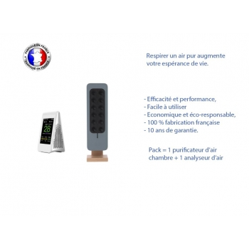 duo analyseur + purificateur air