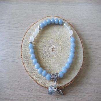 Bracelet en Pierre de lune et Angélite