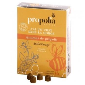 Gommes de propolis - Miel et Orange - sachet 45g