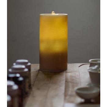 Bougie fontaine aquazen 20 cm en cire brossée couleur miel