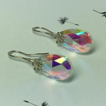 Boucles d'oreille goutte en cristal