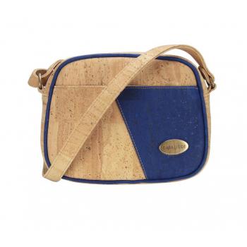 ARIA sac bandoulière liège bleu electrique