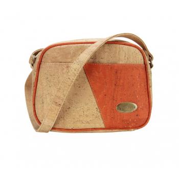ARIA sac bandoulière liège orange