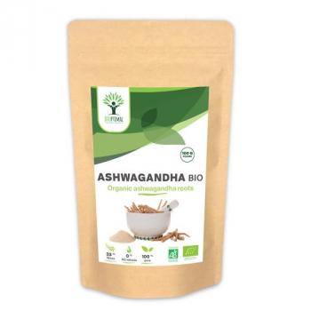 Ashwagandha Bio - Complément Alimentaire - Superaliment - Conditionné en France - Certifié Ecocert - BIOPTIMAL - 100g