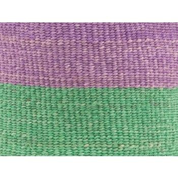 ASUBUHI - les paniers de rangement M mauve et vert équitables