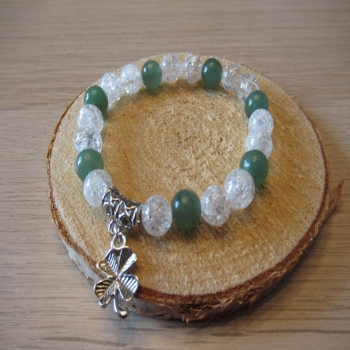 Bracelet cristal de roche et aventurine