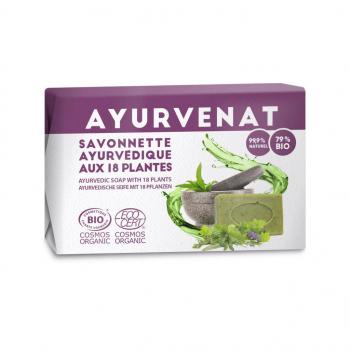 Savonnette ayurvedique bio aux 18 plantes 100g