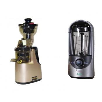 MAXI PACK : Extracteur Carbel GG Gold + Blender sous vide REMY gris