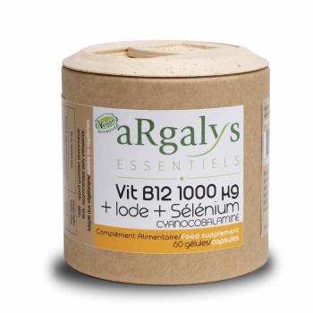 Vitamine B12 + Iode - Vegan - 60 gélules - Complément Alimentaire - Argalys