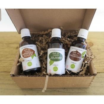 Coffret BEBE et MAMAN : Soins naturels pendant et après la grossesse  + 1 Flacon AMANDE DOUCE (promotion MAI)