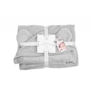 LUIN LIVING - Serviette-cape bébé/enfant 0-5 ans PEARL GREY