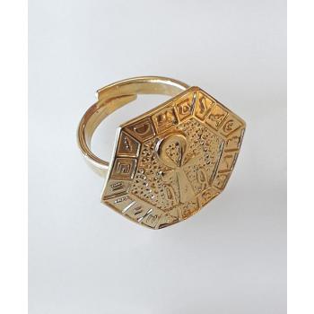 Bague croix de vie sacrée plaqué or