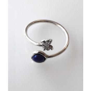 Bague Duo Couture Lapis Lazuli Liberté / Ancrage argent