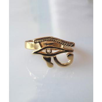 Bague oeil d'Horus plaqué or
