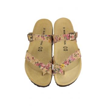 Sandales BAKI Fleurs, Paire vue dessus