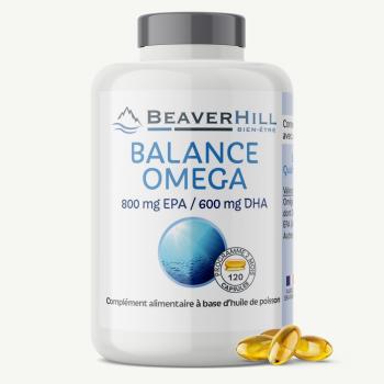 BALANCE OMEGA – 800 mg EPA/600 mg DHA – 120 capsules – Nouveau produit !