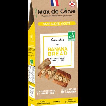 Préparation pour banana bread sans sucre ajouté (naturellement sans gluten)