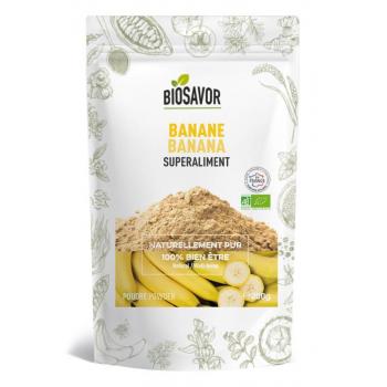 Banane en poudre Bio - 200g - Elaboré, préparé et conditionné en France