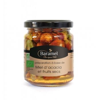 Miel d'Acacia et Fruits secs biologique 250gr - Baramel