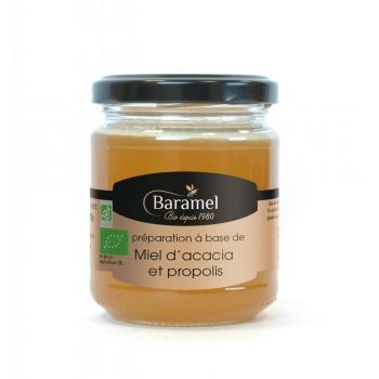 Miel d'Acacia et Propolis biologique 250gr - Baramel