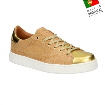 Chaussures en liège - Baskets en liège naturel version dorée
