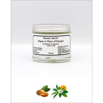 Baumes au beurre de karité Biologique fleur d'oranger, Néroli 125ml