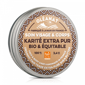 Beurre de karite extra pur bio & equitable - 100ml