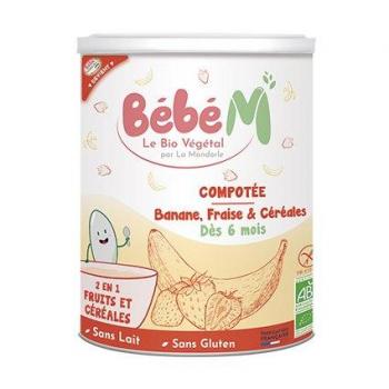 MA 1ère COMPOTEE -Banane Fraise et Céréales