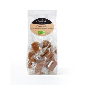 Caramels tendres papillotes biologiques (sachet de bonbons individuels) 120g - Baramel