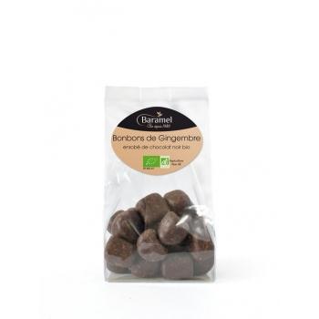 Gingembre Confit Enrobé de Chocolat biologique 110g - Baramel