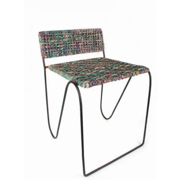 Chaise - métal et sari recyclé