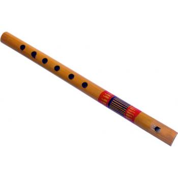Flûte en bambou, peintes de différentes